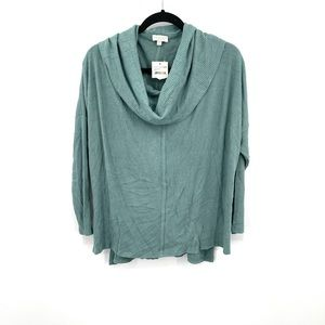NWT status by Chenault cowl neck poncho sweater